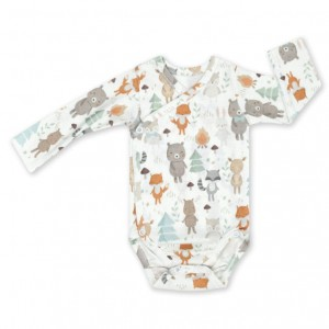 Colorstories BODY LONGSLEEVE WOODLAND WHITE rozm.56